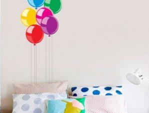 Μπαλόνια Παιδικά Αυτοκόλλητα τοίχου 65 x 30 cm