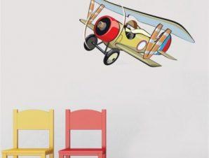 Υδροπλάνο Παιδικά Αυτοκόλλητα τοίχου 40 x 60 cm