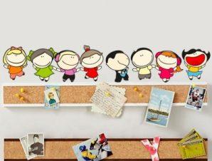 Παιδάκια χαρούμενα Παιδικά Αυτοκόλλητα τοίχου 111 x 20 εκ.