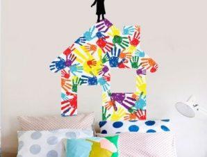 Σπιτάκι Παιδικά Αυτοκόλλητα τοίχου 49 x 40 cm
