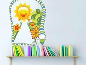 Φιδάκι Παιδικά Αυτοκόλλητα τοίχου 51 x 40 cm