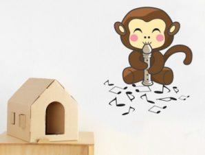 Μαϊμουδάκι Παιδικά Αυτοκόλλητα τοίχου 62 x 50 cm