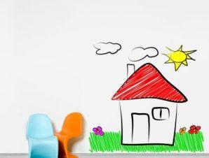 Σπιτάκι στη φύση Παιδικά Αυτοκόλλητα τοίχου 78 x 80 cm