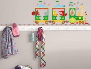 Τραινάκι με σιδηρόδρομο Παιδικά Αυτοκόλλητα τοίχου 100 x 27 εκ.
