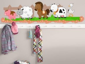 Ζωάκια Παιδικά Αυτοκόλλητα τοίχου 27 x 100 cm