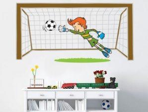 Τερματοφύλακας Παιδικά Αυτοκόλλητα τοίχου 25 x 50 cm