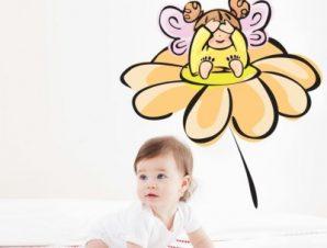 Νεραϊδούλα σε μαργαρίτα Παιδικά Αυτοκόλλητα τοίχου 52 x 50 cm