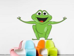 Βατραχάκι με ανοιχτά χέρια Παιδικά Αυτοκόλλητα τοίχου 70 x 40 εκ.