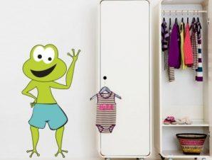 Βατραχάκι χαρούμενο Παιδικά Αυτοκόλλητα τοίχου 40 x 70 cm