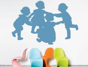Γύρω-γύρω όλοι Παιδικά Αυτοκόλλητα τοίχου 62 x 40 cm