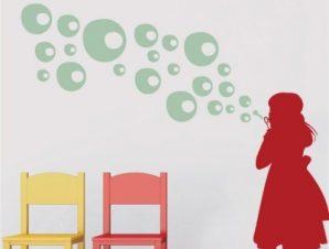 Φουσκίτσες Παιδικά Αυτοκόλλητα τοίχου 58 x 60 εκ.