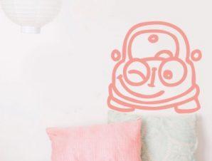 Αυτοκινητάκι που κλείνει το μάτι Παιδικά Αυτοκόλλητα τοίχου 39 x 40 cm