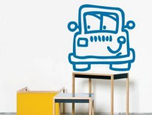 Αυτοκινητάκι Παιδικά Αυτοκόλλητα τοίχου 40 x 40 cm