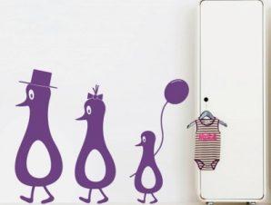 Πιγκουϊνάκια Παιδικά Αυτοκόλλητα τοίχου 47 x 60 cm