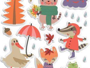 Διακοσμητικά αυτοκόλλητα τοίχου Rainy Day αφρωδη L