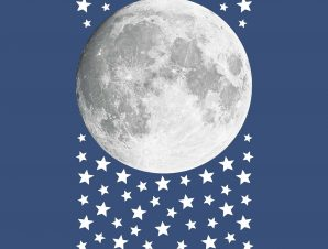 Διακοσμητικά αυτοκόλλητα τοίχου Moon φωσφορίζοντα L