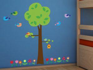 Διακοσμητικά αυτοκόλλητα τοίχου Tree With Flower
