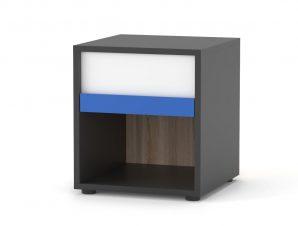 Κομοδίνο «ALEX» σε χρώμα γραφίτης δρύς σονόμα λευκό 36x36x39