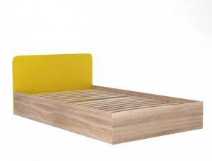"""Κρεβάτι """"MULTISPACE"""" ημίδιπλο με αποθηκευτικό χώρο σε χρώμα κίτρινο-σονόμα 126x205x75"""