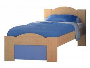 """Παιδικό κρεβάτι """"ΚΥΜΑ"""" ημίδιπλο σε χρώμα δρυς-σιελ 110×190"""