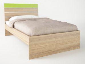 """Παιδικό κρεβάτι """"ΝΟΤΑ"""" μονό σε χρώμα δρυς-λαχανί 90×190"""