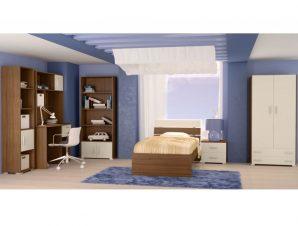 """Παιδικό δωμάτιο """"NOTA"""" σετ 7 τμχ σε χρώμα εκρού-καρυδί"""