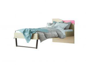 """Παιδικό κρεβάτι """"ΤΟΞΟ"""" μονό σε χρώμα δρυς-ροζ 90×190"""