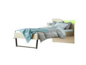 """Παιδικό κρεβάτι """"ΤΟΞΟ"""" ημίδιπλο σε χρώμα δρυς-λαχανί 110×190"""