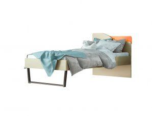 """Παιδικό κρεβάτι """"ΤΟΞΟ"""" ημίδιπλο σε χρώμα δρυς-κόκκινο 110×190"""