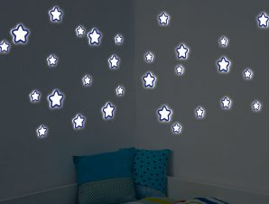 Διακοσμητικά αυτοκόλλητα τοιχου Glow Star M Φωσφορίζοντα