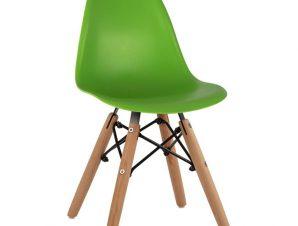 Καρέκλα παιδική «TWIST KID» από PP σε χρώμα φυσικό/πράσινο 30,5x33x59