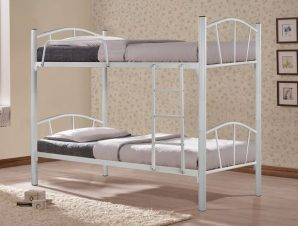 """Κουκέτα κρεβάτι """"FLOOR"""" μεταλλική σε χρώμα λευκό 200×91,5×177,5"""