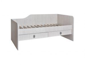 """Κρεβάτι παιδικό """"NUMERO"""" με συρτάρια σε λευκό δρυς χρώμα 205×102,5×90"""