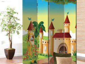Πριγκίπισσα Στο Κάστρο Παιδικά Παραβάν 80×180 cm [Δίφυλλο]