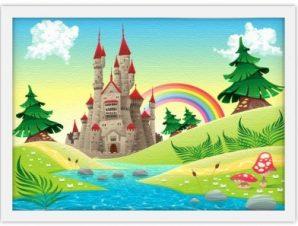 Παραμυθένιο φόντο Παιδικά Πίνακες σε καμβά 30 x 20 εκ.