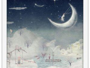 Φανταστική πόλη στον ουρανό Παιδικά Πίνακες σε καμβά 40 x 40 εκ.