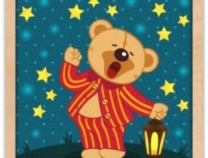 Αρκουδάκι με πιτζάμες Παιδικά Πίνακες σε καμβά 40 x 40 εκ.