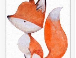 Μικρή αλεπού Παιδικά Πίνακες σε καμβά 20 x 30 εκ.