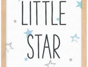 Μικρό αστέρι Παιδικά Πίνακες σε καμβά 20 x 30 εκ.