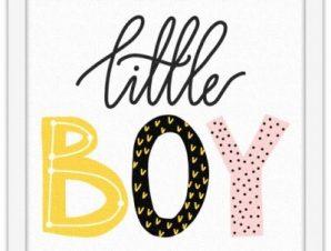 Μικρό αγόρι Παιδικά Πίνακες σε καμβά 40 x 40 εκ.