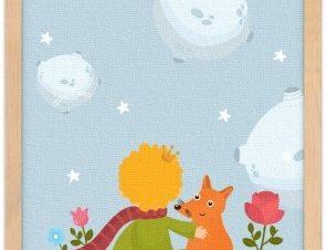 Ο μικρός Πρίγκιπας η αλεπού & το τριαντάφυλλο Παιδικά Πίνακες σε καμβά 20 x 30 εκ.