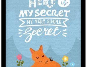 Να το μυστικό μου! Παιδικά Πίνακες σε καμβά 20 x 30 εκ.