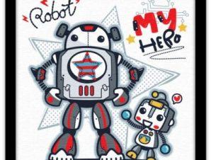 Το ρομπότ, ο ήρωάς μου Παιδικά Πίνακες σε καμβά 40 x 40 εκ.