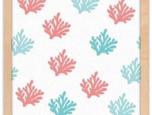 Μοτίβο κοράλι Παιδικά Πίνακες σε καμβά 40 x 40 εκ.