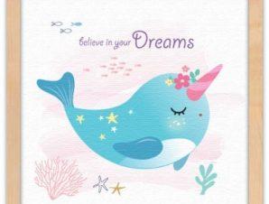 Πίστεψε στα όνειρά σου Παιδικά Πίνακες σε καμβά 40 x 40 εκ.