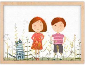 Στο λιβάδι Παιδικά Πίνακες σε καμβά 30 x 20 εκ.