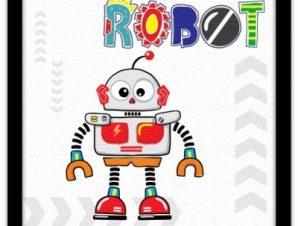 Ρομπότ Παιδικά Πίνακες σε καμβά 40 x 40 εκ.
