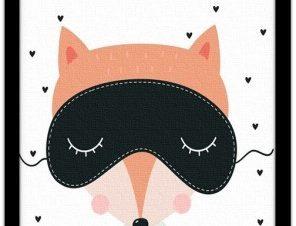 Αλεπού με μάσκα Παιδικά Πίνακες σε καμβά 20 x 30 εκ.