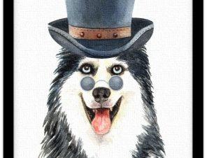 Λύκος με καπέλο Παιδικά Πίνακες σε καμβά 20 x 30 εκ.