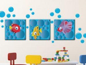Βυθός Παιδικά Πίνακες και αυτοκόλλητα 131×54